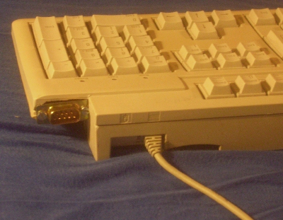 Keyboard with joystick-port extension